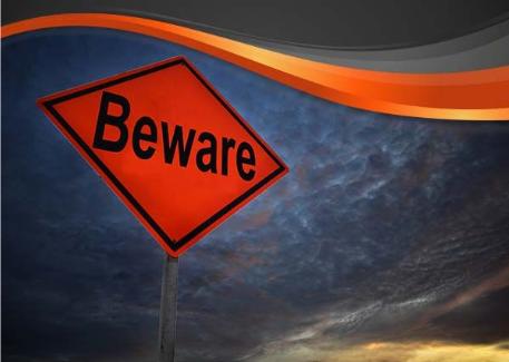 A 'BEWARE' sign