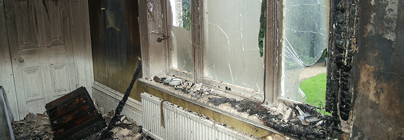 Photo of fire damage to a hime