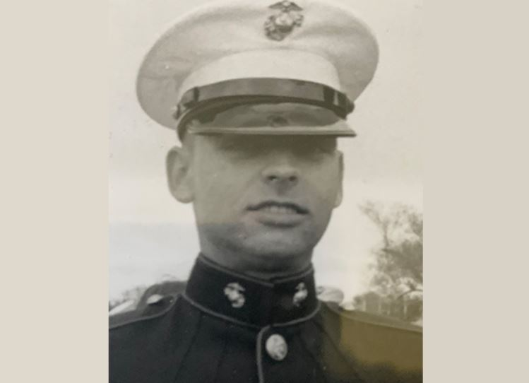 An old photo of Lorne James in his Marine uniform