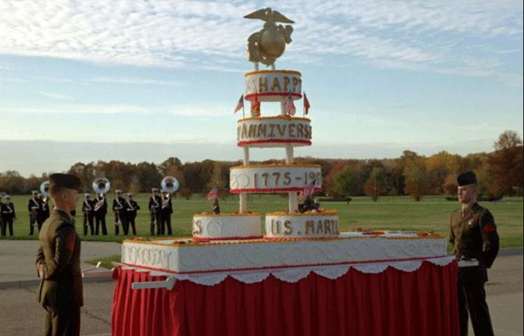Photo of the Marine Corps cake
