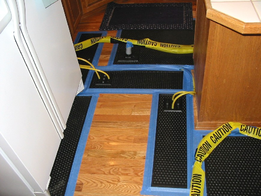 Photo of vacuum pads attached to the floor